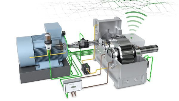"""With the """"Drive Train 4.0"""" technology demonstrator, Schaeffler has developed a basic concept for the digitalization and monitoring of motor-gearbox applications, which represents a wide range of drives found in all performance classes and applications."""